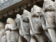 Carvings (Sparky the Neon Cat) Tags: sculpture india building temple asia stonework group carving western hindu pradesh khajuraho madhya lakshmana lakshman