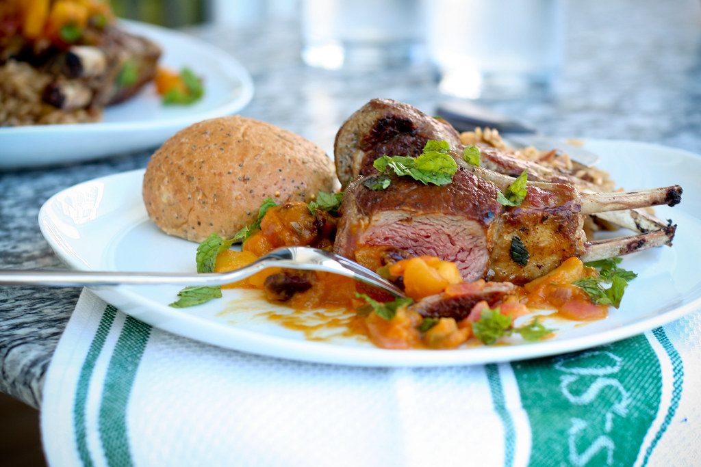 Lamb Chops with Pumpkin Apple Chutney
