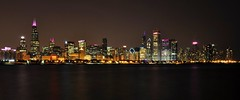 Chicago Skyline in Pink (Seth Oliver Photographic Art) Tags: chicago reflections illinois nikon midwest skyscrapers cityscapes lakemichigan nightshots chicagoatnight pinoy cityatnight breastcancerawarenessmonth urbanscapes 30secondexposure secondcity longexposures chicagoist d90 nightexposures fallseason thecitythatworks bigcities wetreflections cityofchicago cityofbigshoulders sooc moderncities aperturef22 autumnevening shutterspeedpriority setholiver1 chicagoafterdark 18105mmnikkorlens nocturneimages