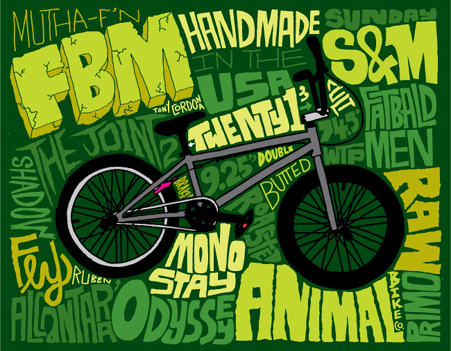 FBM The Joint 2 BMX drawing