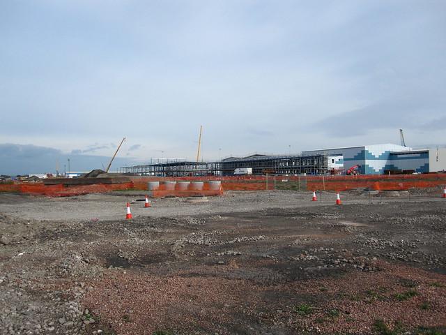 BBC under construction Roath Basin