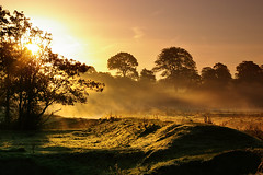 Bright start to the day (Chris Beesley) Tags: autumn sun mist sunrise early dunhammassey riverbollin pentaxk100dsuper 55300mm nicestarttotheday