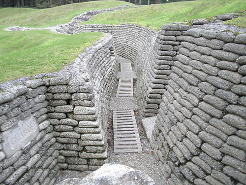 The Canadian Memorial at Vimy Ridge includes preserved trenches and mine craters. Photo: Amanada Slater