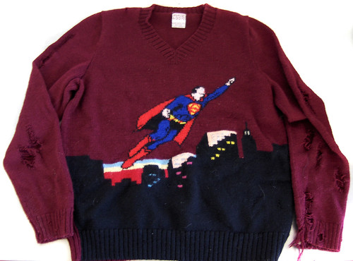 Superman Sweater: Before