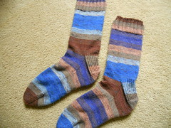 Andy's Stripey socks finished
