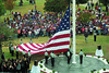 September 11 2002 MSSU held a memorial service with a large dedicated flag.