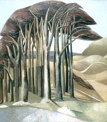 Nash, Paul (1889-1946) - 1929 Wood on the Downs (Aberdeen Art Gallery and Museums, Scotland) (RasMarley) Tags: trees 1920s english landscape surrealism painter nash 20thcentury 1929 paulnash aberdeenartgalleryandmuseums woodonthedowns