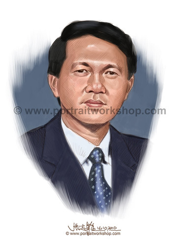 digital portrait illustration of Wong Luck Jaen watermark