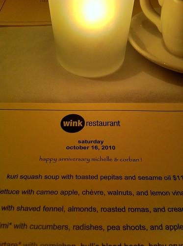 Dinner at Wink!