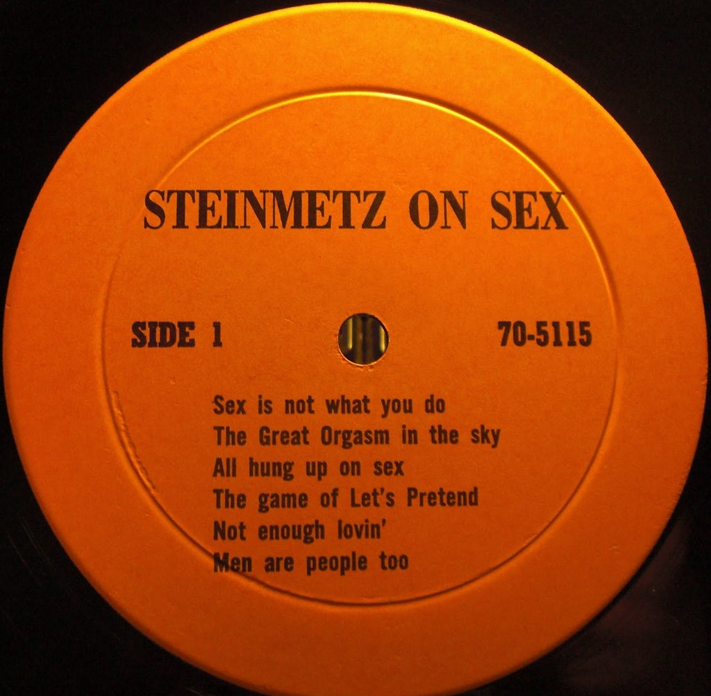 STEINMETZ ON SEX label