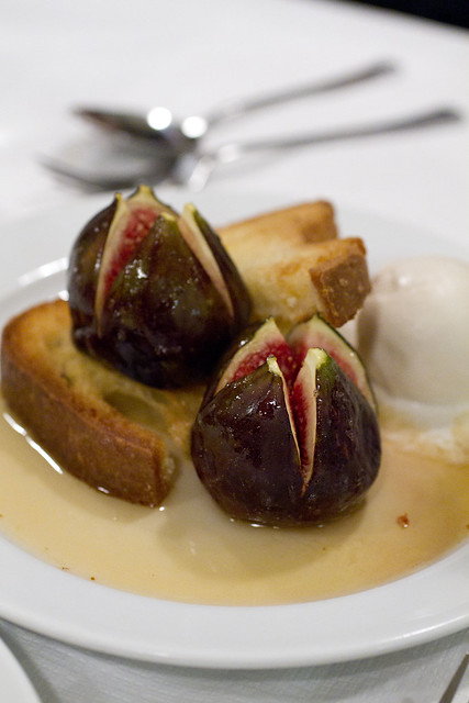 Honey Roast Figs and Toasted Brioche