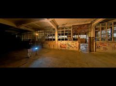 The Cavern (victor*f) Tags: urban building abandoned shoe graffiti switzerland nikon hug factory exploring fabrik flash fisheye remote coloured speedlight gels solothurn trigger 1935 urbex skyport shoefactory elinchrom sb26 dxoopticspro strobist schuhfabrik dulliken sb900