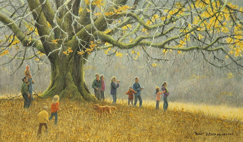 """Family Hike"" is an original painting by artist Robert Bateman. On October 22, it will presented to the USDA Forest Service at the Royal Ontario Museum in Toronto."