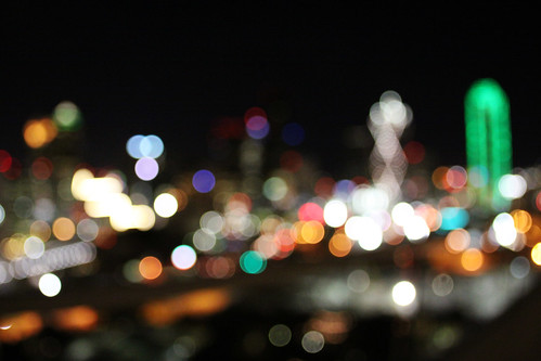 Bokeh Dallas Skyline