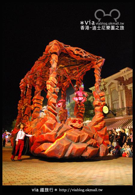 【香港旅遊】跟著via玩香港(2)~迪士尼萬聖節夜間遊行超精彩!17