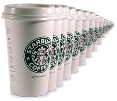 starbucks takeaway cups