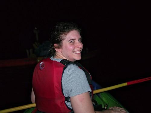 Jen kayaking