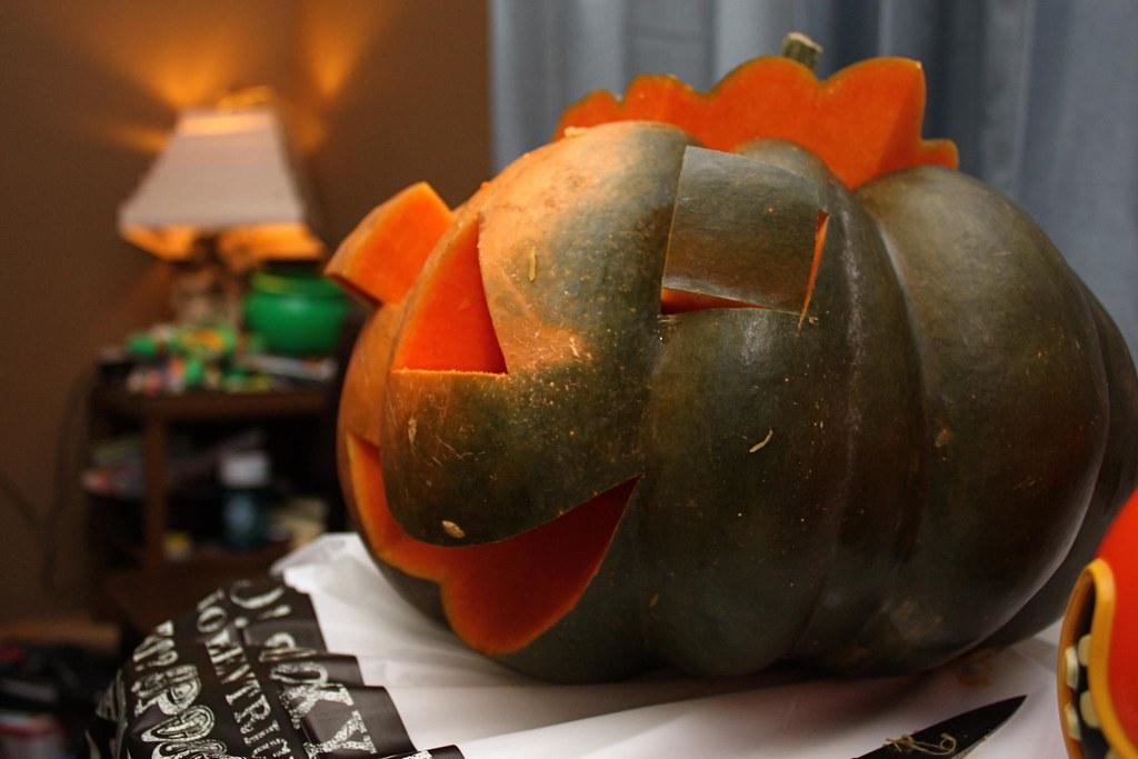 Kjrsten's happy looking pumpkin