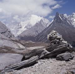 Mt Chanadorje, Yading, China - taken with the Rolleicord (jiulong) Tags: china yading kodakektachrome rolleicordvb