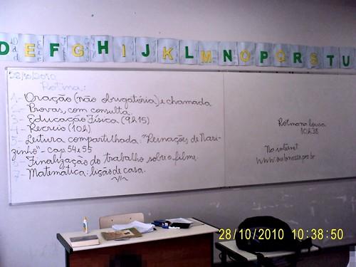 Rotina Prevista (28/10/2010), registrada apos o recreio