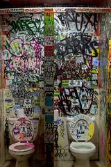 (break.things) Tags: nyc newyorkcity ny newyork brooklyn drunk bathroom graffiti sticker roger marty con korn jace tabz bne mattsiren toper naed trybe dcever smartcrew