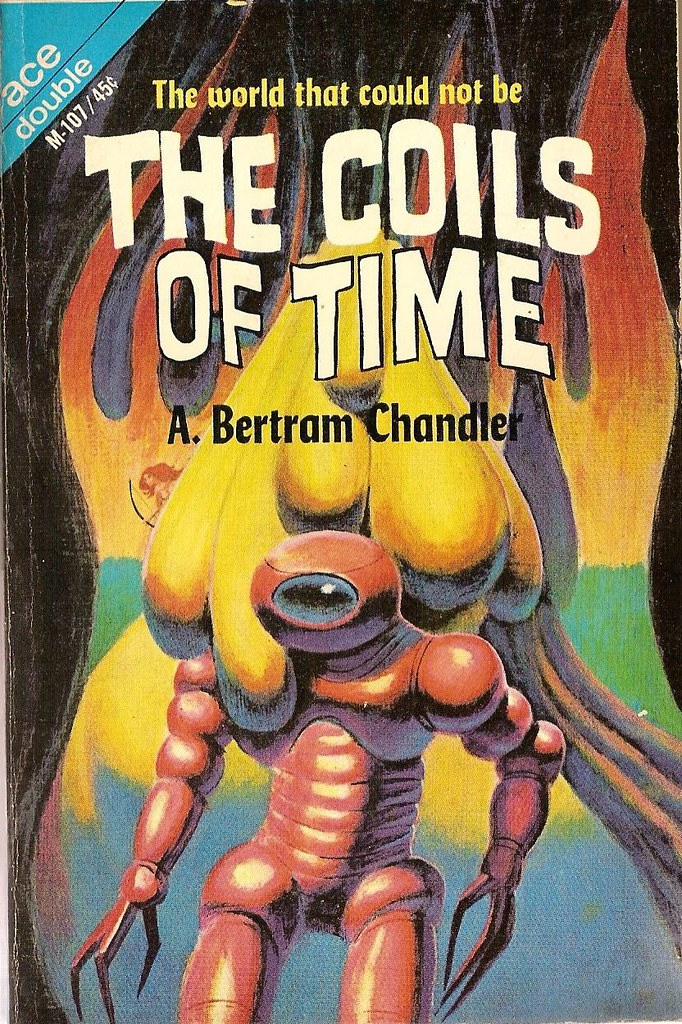 Jack Gaughan cover art - A. Bertram Chandle - The Coils Of Time, 1964