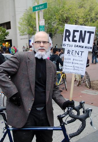 Rent is too damn high - Halloween Critical Mass