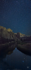 Crooked River (Ben Canales) Tags: sky reflection water rock night oregon river dark stars star reflecting twilight ben smith reflected reflect galaxy starry cosmos smithrock canales bencanales thestartrail wwwthestartrailcom