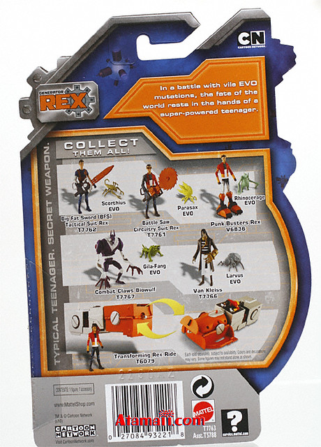 Generator Rex Toys Action Figure. From the first wave of action figures for