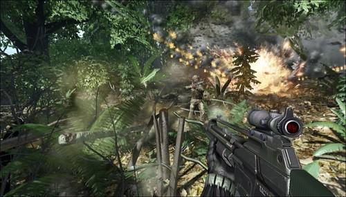 Crysis 2 multiplayer closed beta footage for Xbox 360 has been leaked on