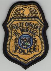 "El Mirage Police Badge Patch (bloo_96 ""Daniel DeSart"") Tags: arizona emblem uniform cops leo police az pd cop law enforcement patch insignia shoulder arz embroidered ariz embroid"