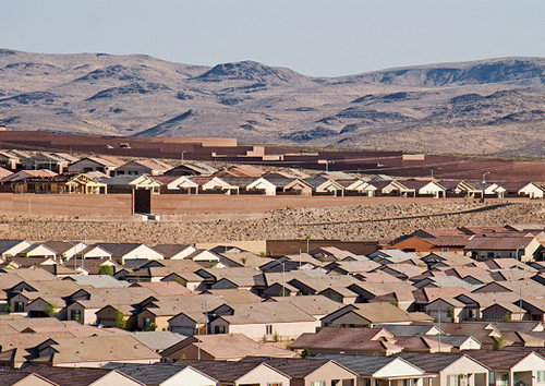 housing outside Las Vegas (by: Nicole Huber and Ralph Stern, Urbanizing the Mojave Desert)
