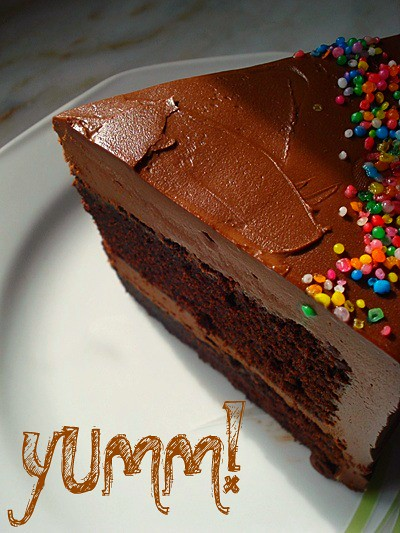 Chocolate Mayonnaise Cake with Chocolate Sour Cream Frosting