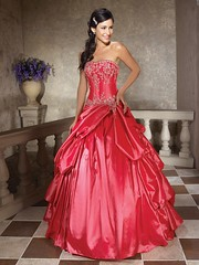 Gorgeous Red Gown (Sabrina Satin1) Tags: dress feminine fantasy crossdresser effeminate ballgown crossdressingfantasy
