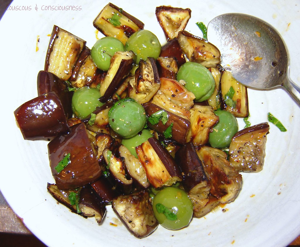 Roasted Eggplant, Green Olive & Mizithra Salad 3, edited