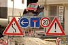 Kosovo's new street signs require new skills to interpret. (Ivan S. Abrams) Tags: ivansabrams abramsandmcdanielinternationallawandeconomicdiplomacy ivansabramsarizonaattorney ivansabramsbauniversityofpittsburghjduniversityofpittsburghllmuniversityofarizonainternationallawyer