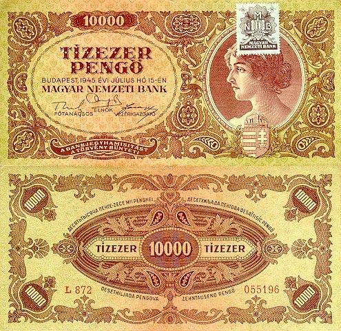 10 000 Pengő Maďarsko 1945, P119
