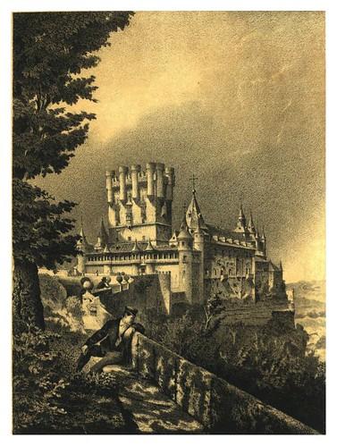 029-Alcázar de Segovia (antes del incendio) (1865) - Parcerisa, F. J-Biblioteca digital de Castilla y León  .
