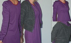 A cardigan and dress ensemble