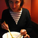 Jessica eating ramen
