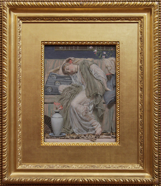 A Sleeping Girl, Albert Moore, about 1875