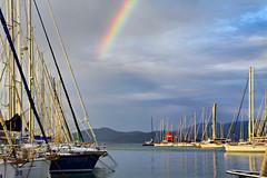 arcobaleno (Fabio Sartori) Tags: sea faro al mare barche punta toscana puntaala flickraward