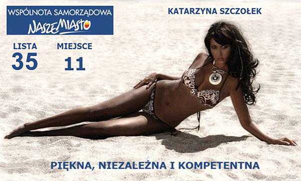 Candidata Polaca pide el voto en Bikini