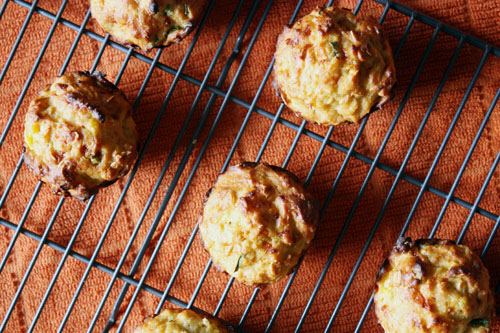 cheddar squash muffins.