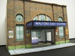 Walford East Underground Station (kingsway john) Tags: london undeground eastenders walford east kingsway models 176 scale card model tube transport underground train station oo gauge scalemodel oogauge railway miniature