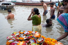 (rozpedowski) Tags: world travel people woman india wet water river nikon bath asia humanity religion crowd human journey indie varanasi ritual bathing hindu hinduism puja ganga ganges religia kobieta azja earthasia