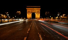 Arc du triumph (shaun hamblin) Tags: paris france night nikon champs arc sigma wideangle du triumph 1020mm elysees lighttrail d90
