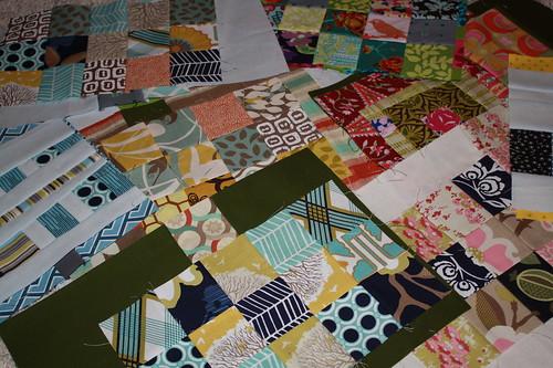 pile of mug rug tops
