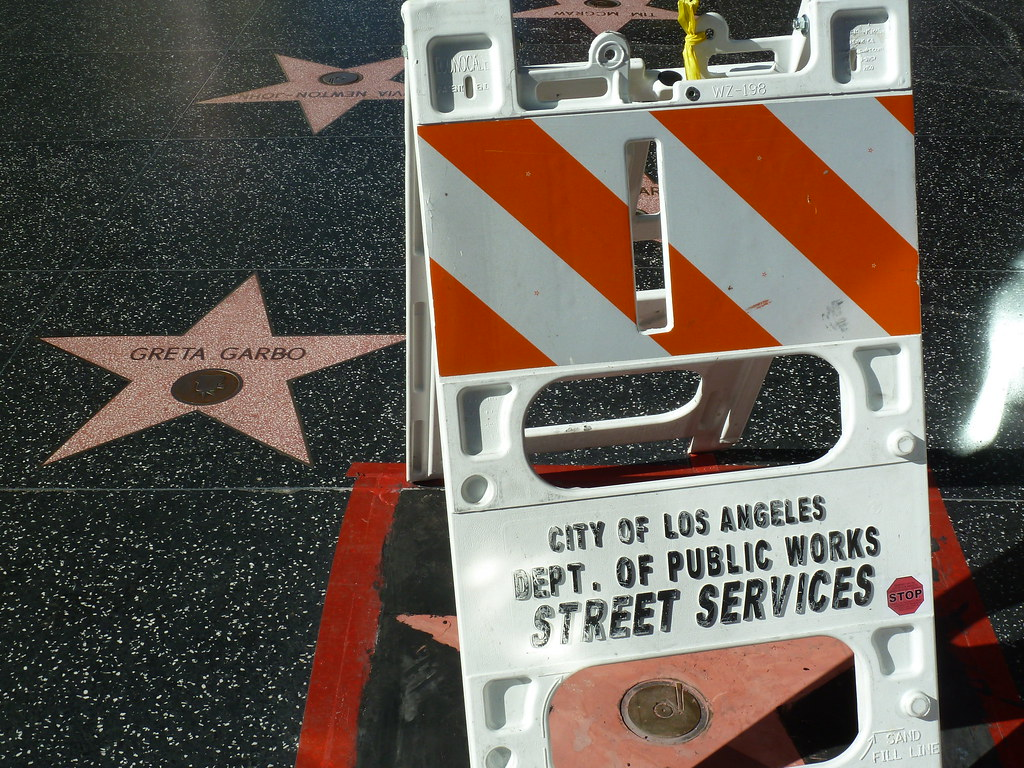 Christina Aguilera's star on the Hollywood Walk of Fame near Greta Garbo's