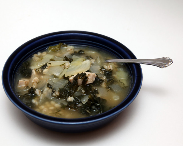 Chicken, Barley and Kale Soup